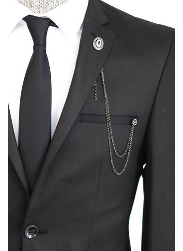 Wessi Slimfit Iki Düğme Takım Elbise Kombini Siyah